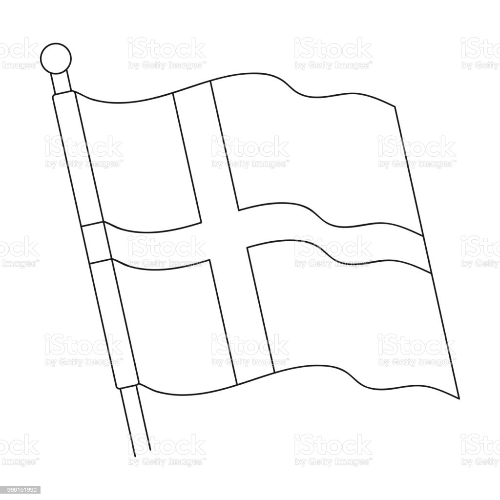 Flag,single icon in outline style.Flag, vector symbol stock illustration web. - Векторная графика Без людей роялти-фри