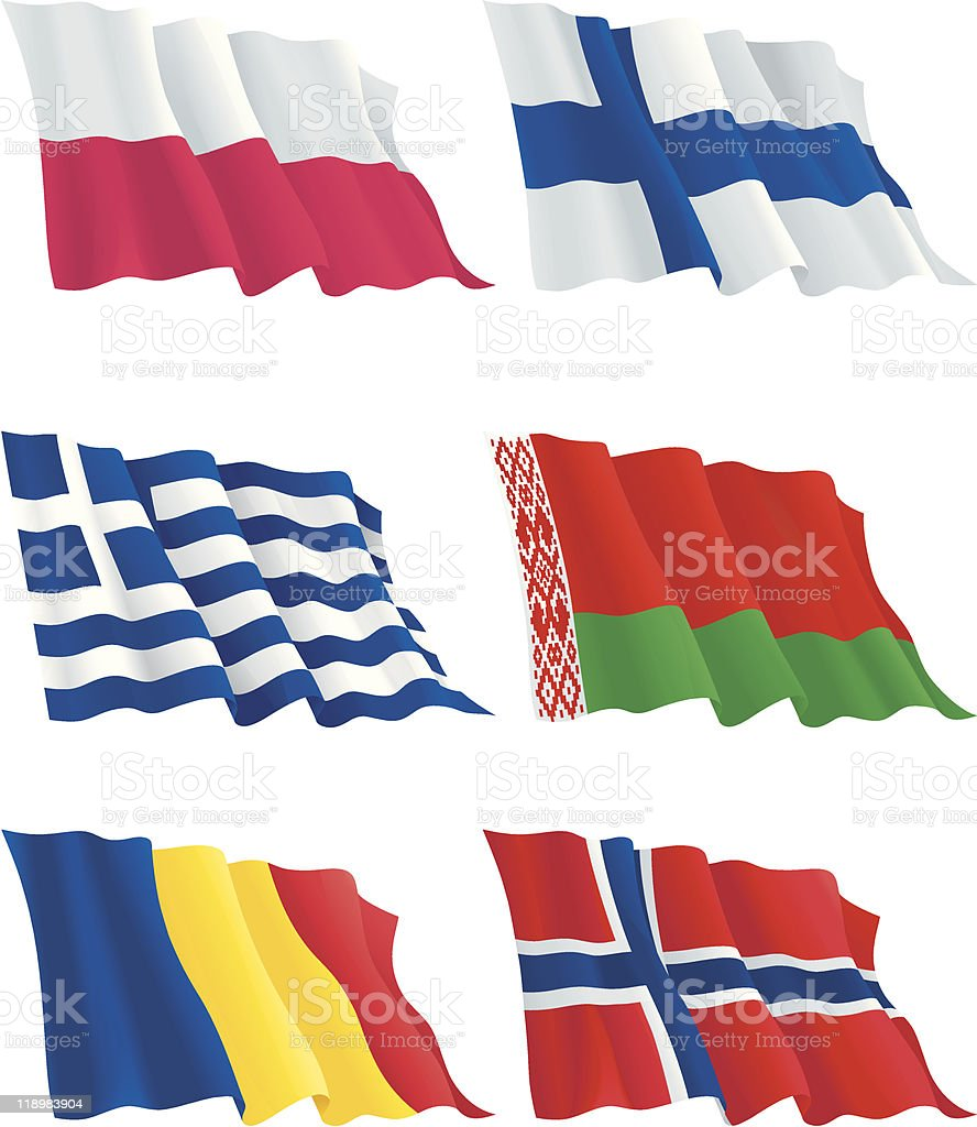 Flags's set of Europe countries royalty-free stock vector art