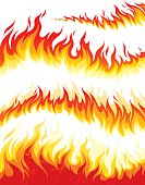 Vector collection of flame