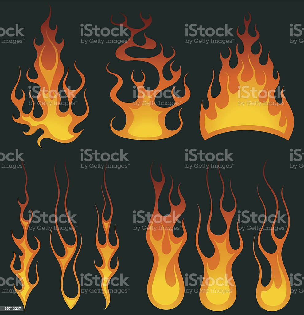 Flame Collection royalty-free flame collection stock vector art & more images of burning