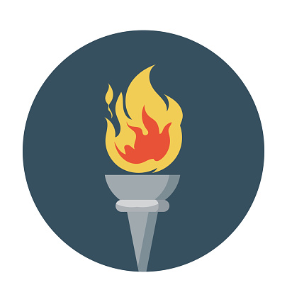 Flame Colored Vector Icon