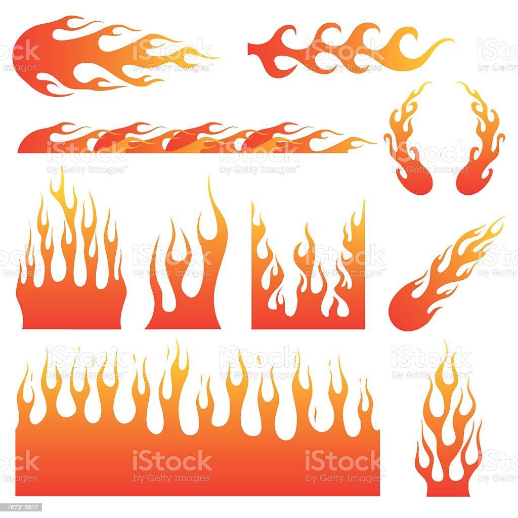 Flame Decals - Royaltyfri 2015 vektorgrafik