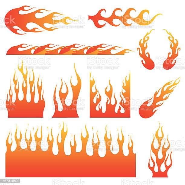 Flame Decals-vektorgrafik och fler bilder på 2015