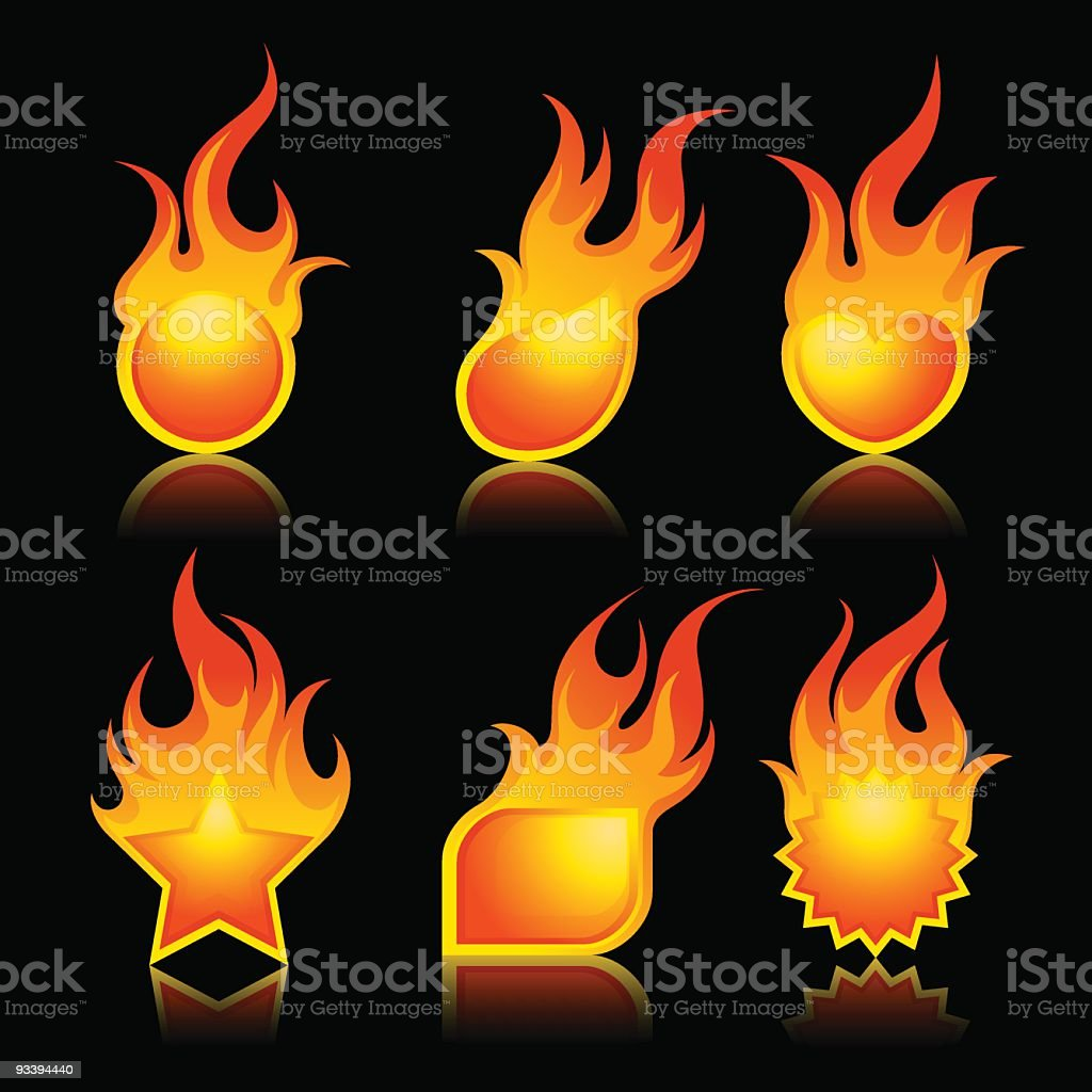 Flame elements royalty-free stock vector art
