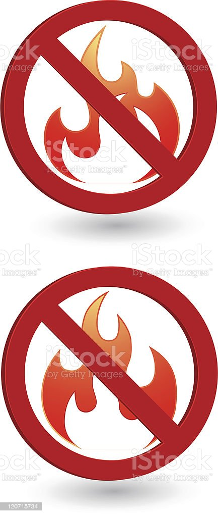 Flame forbidden royalty-free flame forbidden stock vector art & more images of burning