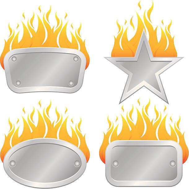 Flame Frames vector art illustration