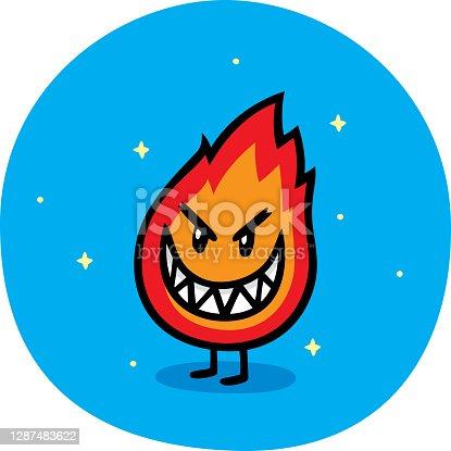 istock Flame Guy Doodle 1287483622