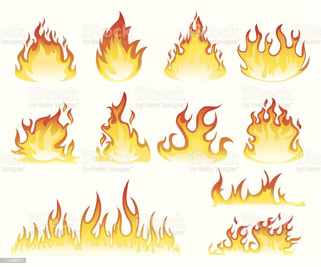 Flame icon vector art illustration