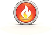 Flame Icon illustration.