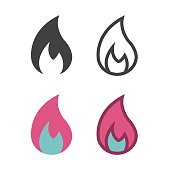 Flame Icon Vector EPS File.