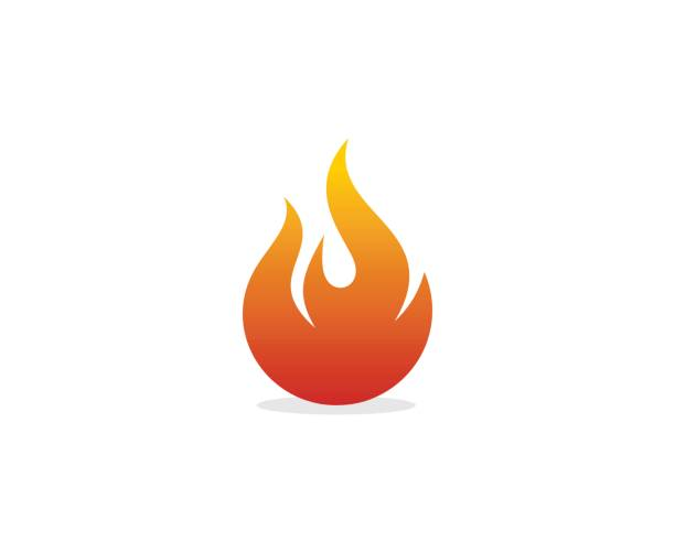 flame icon - fire stock illustrations
