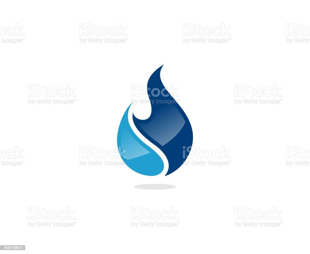 Flame icon vector art illustration