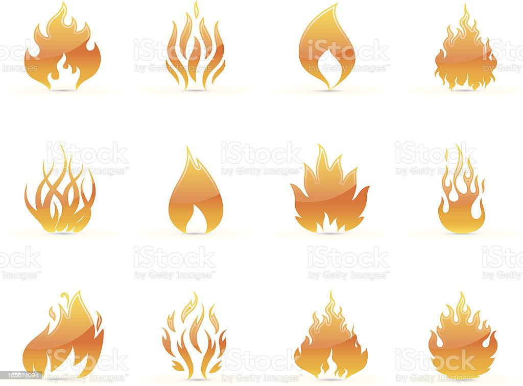 Flame icons royalty-free stock vector art