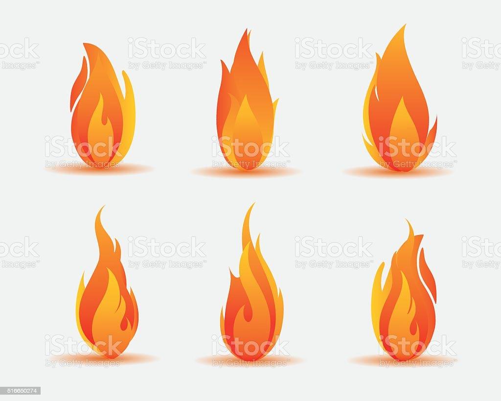 flame illustration vector art illustration