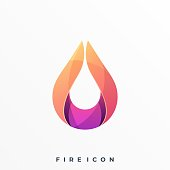 Flame Illustration Vector Template. Suitable for Creative Industry, Multimedia, entertainment, Educations, Shop, and any related business.