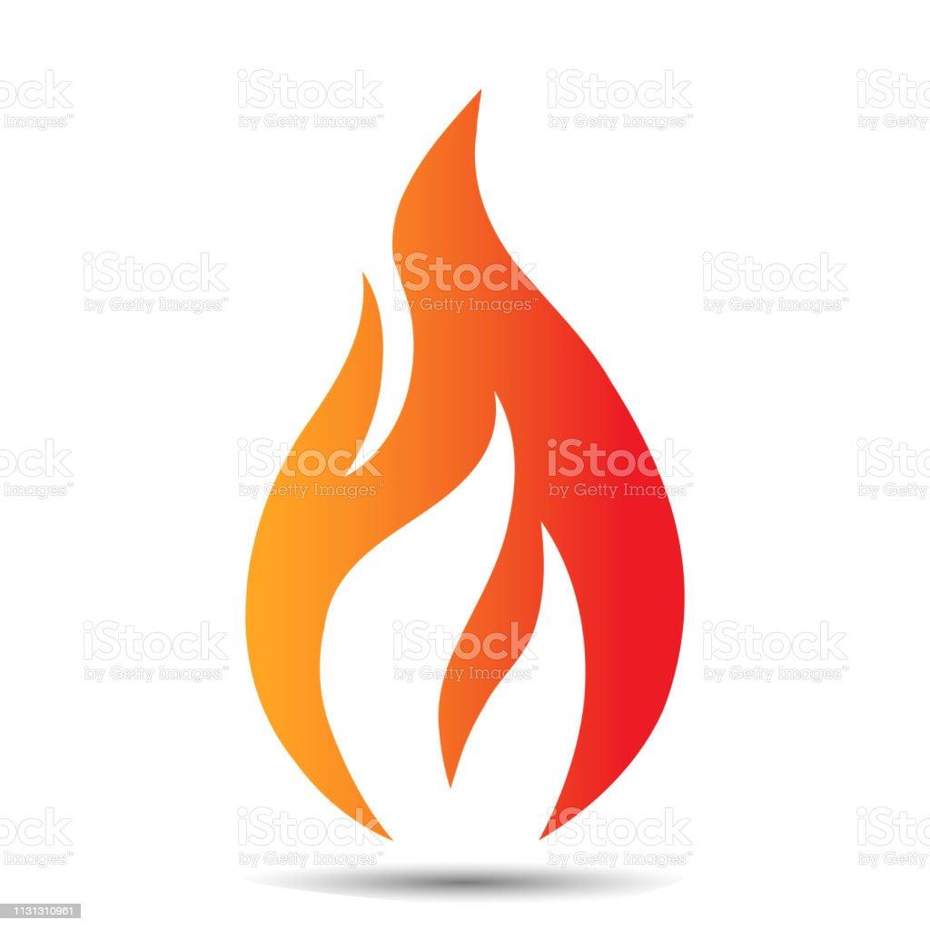 Icône de conception de logo de flamme. Modèle de concept de feu créatif pour l'entreprise pétrolière et gazière, Web ou application mobile. illustration vectorielle - clipart vectoriel de Abstrait libre de droits