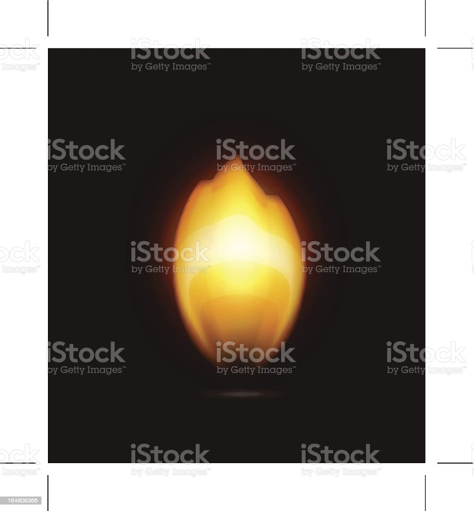 Flame on black royalty-free stock vector art