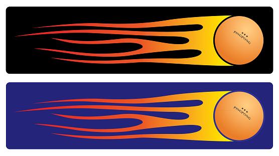 Flame Pingpong Ball Banners