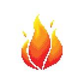 Flame pixel concept.