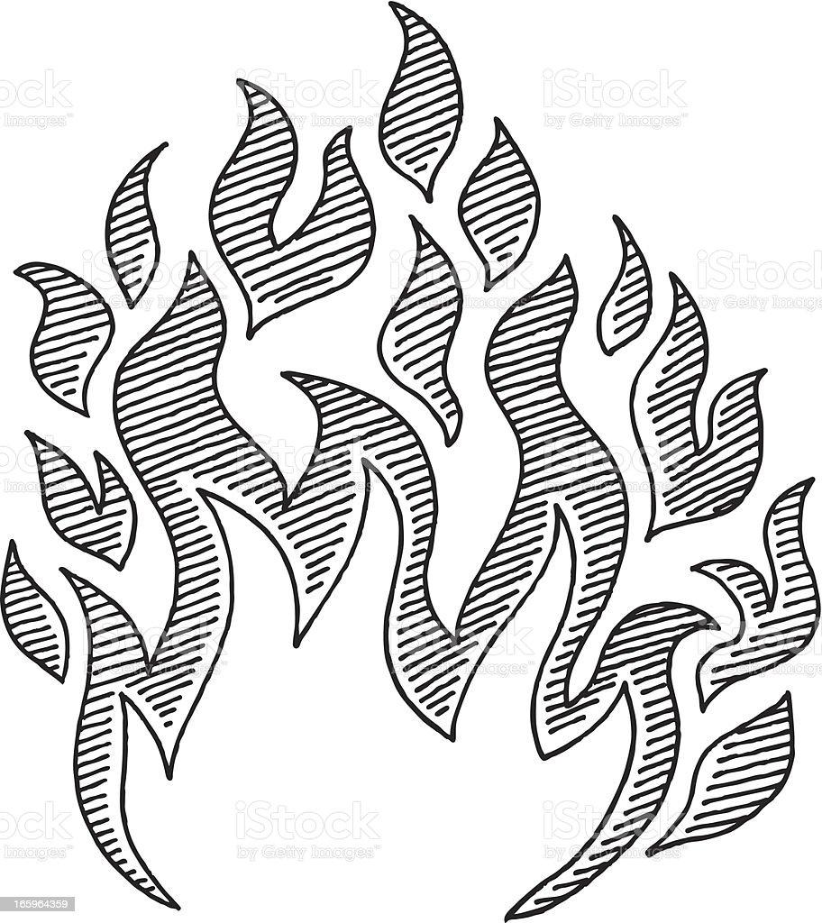 Symbole De Dessin Flamme Vecteurs Libres De Droits Et Plus D