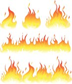 vector file of fire flame