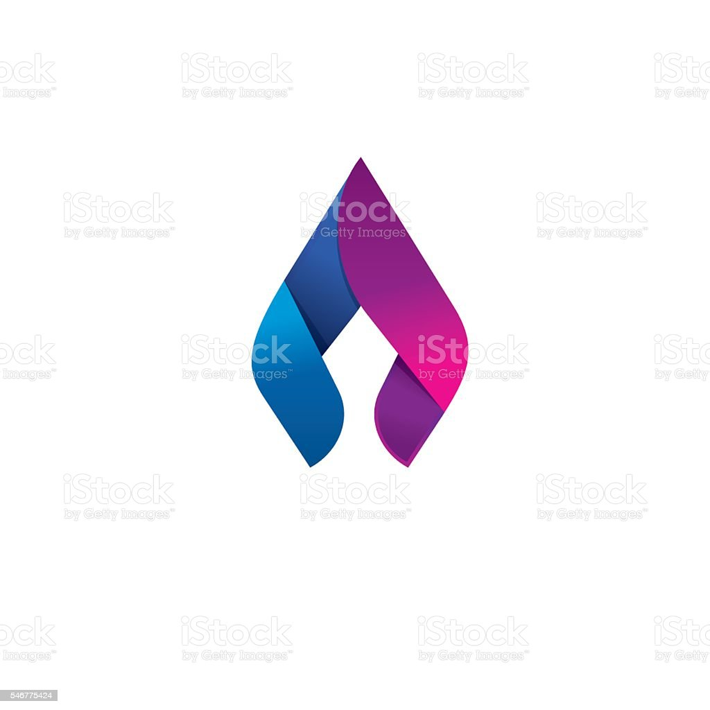 Flame vector logo design concept, beauty spear, elegant candle vector art illustration