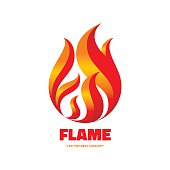 Flame - vector sign concept illustration.