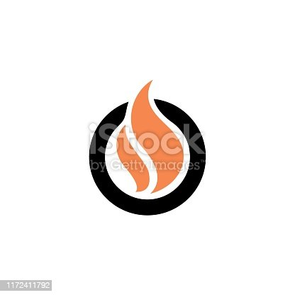 Flame with Letter O  design