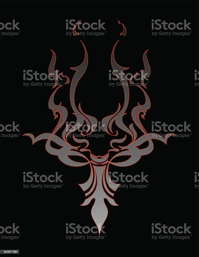 Flamed Facial Figure royalty-free stock vector art