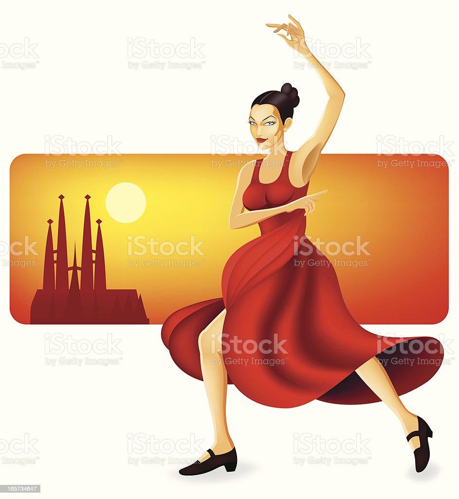 Flamenco Dancer royalty-free stock vector art