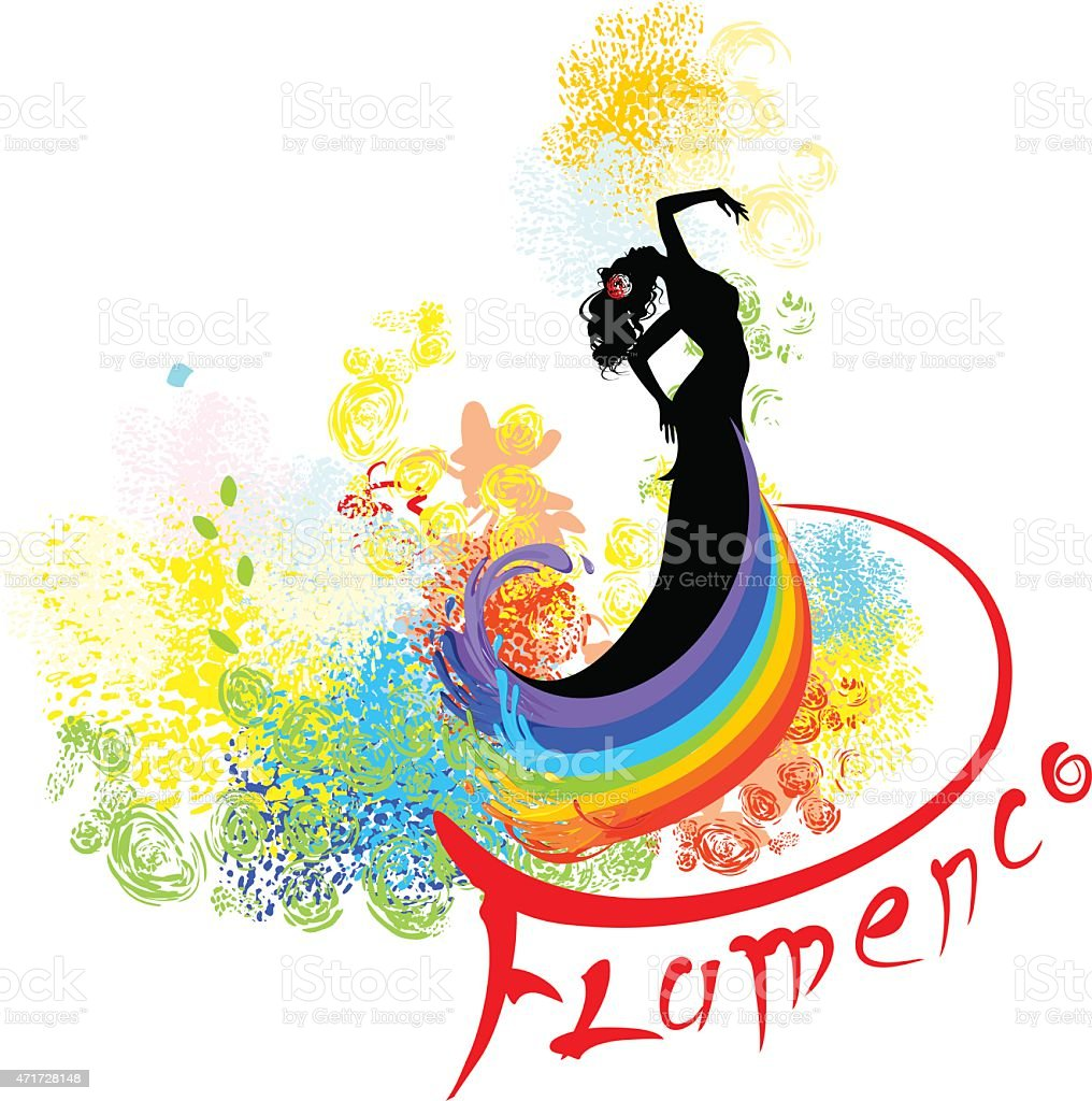 Flamenco dancer vector art illustration