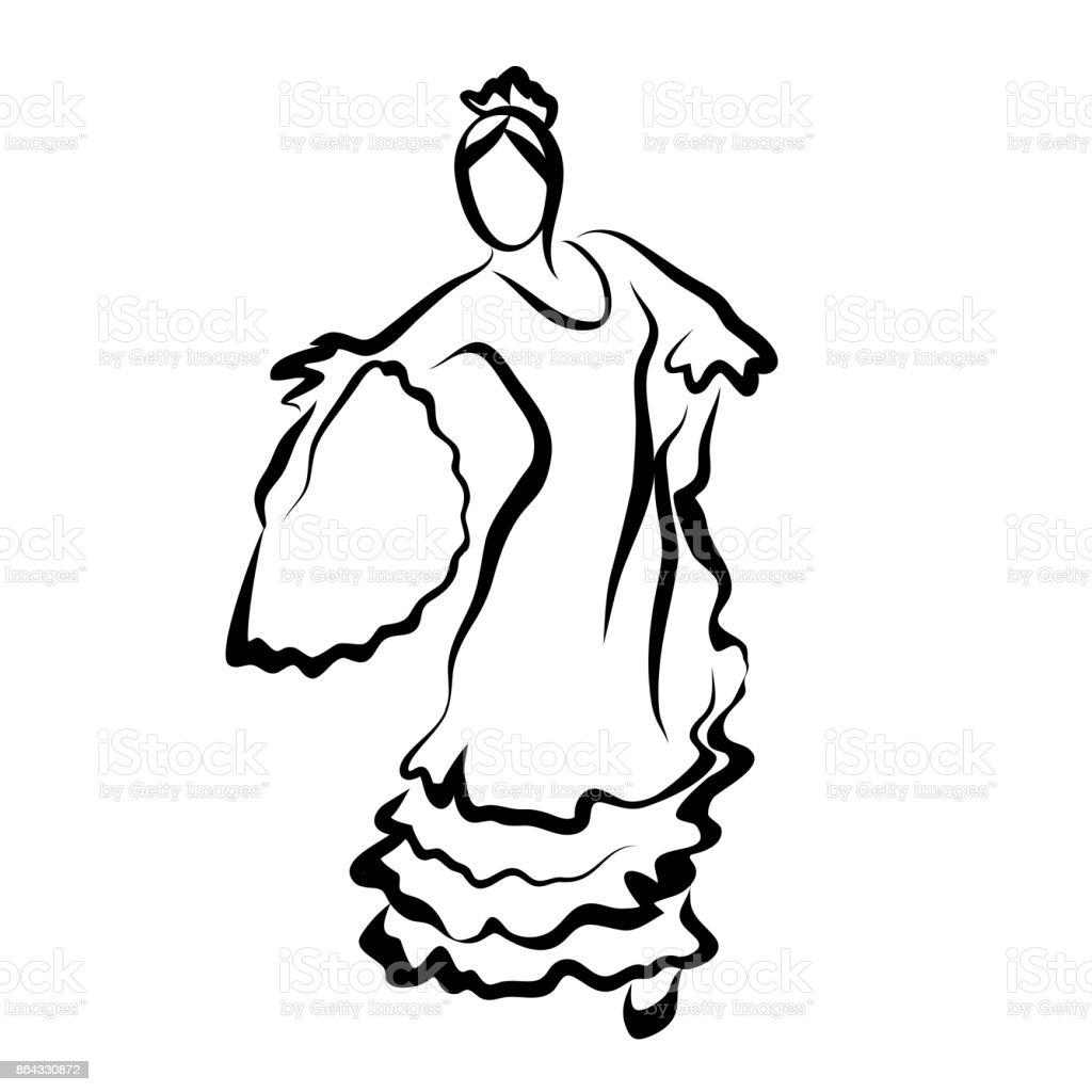 Bailarina de flamenco - ilustración de arte vectorial
