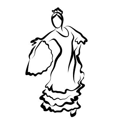 Flamencodanseres Stockvectorkunst en meer beelden van Advertentie