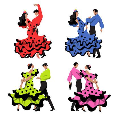 Flamenco Dancers Set
