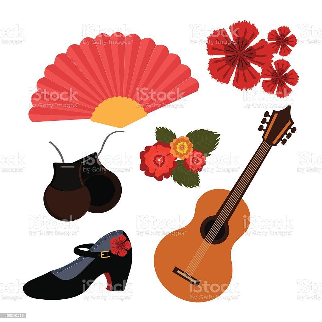 Flamenco diseño, ilustración vectorial. - ilustración de arte vectorial