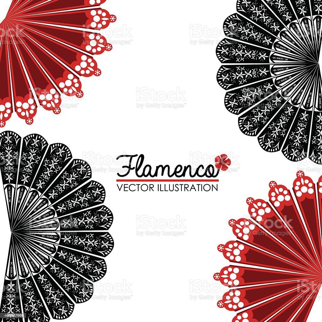 Flamenco design, vector illustration. vector art illustration