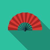 istock Flamenco Fan Spain Flat Design Icon 1012312438