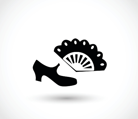 Flamenco icon  - simple vector illustration isolated on white background