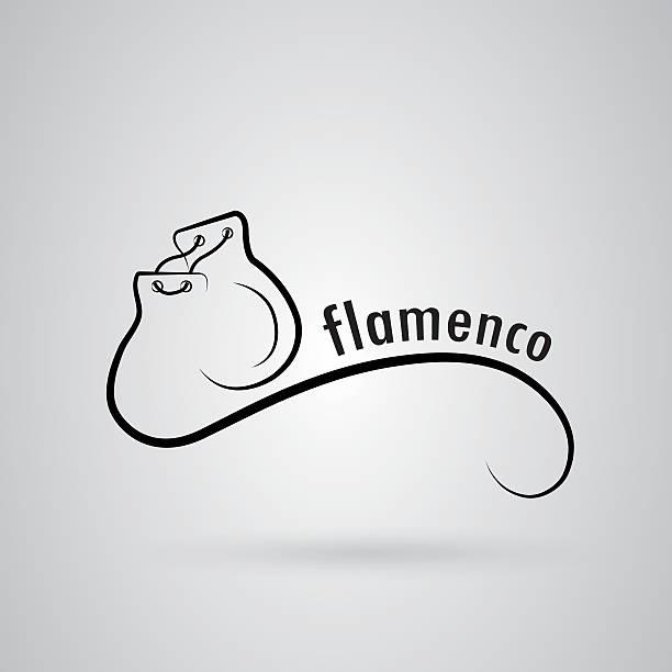 stockillustraties, clipart, cartoons en iconen met flamenco logo - castagnetten
