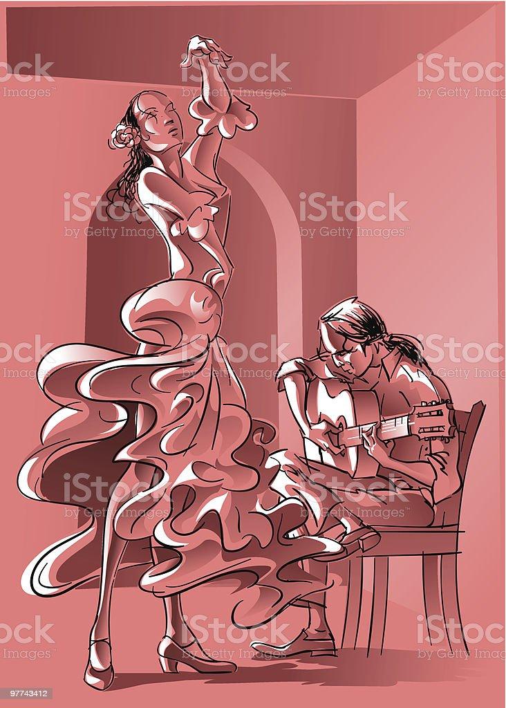 Flamenco royalty-free stock vector art