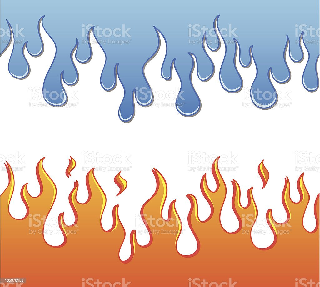 Flames and Ooze vector art illustration