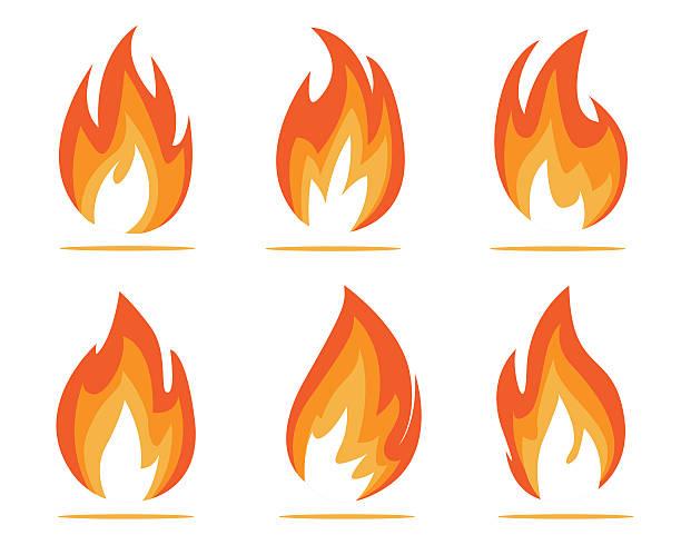 flames-illustrationen - feuer stock-grafiken, -clipart, -cartoons und -symbole