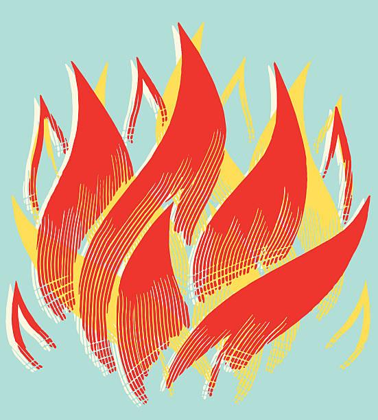 ilustrações de stock, clip art, desenhos animados e ícones de chamas - chama
