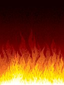 Flames laid over a seamless wallpaper.