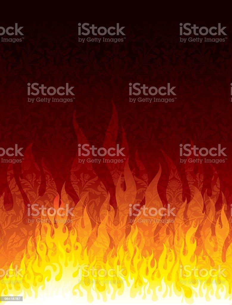 Flames vector art illustration