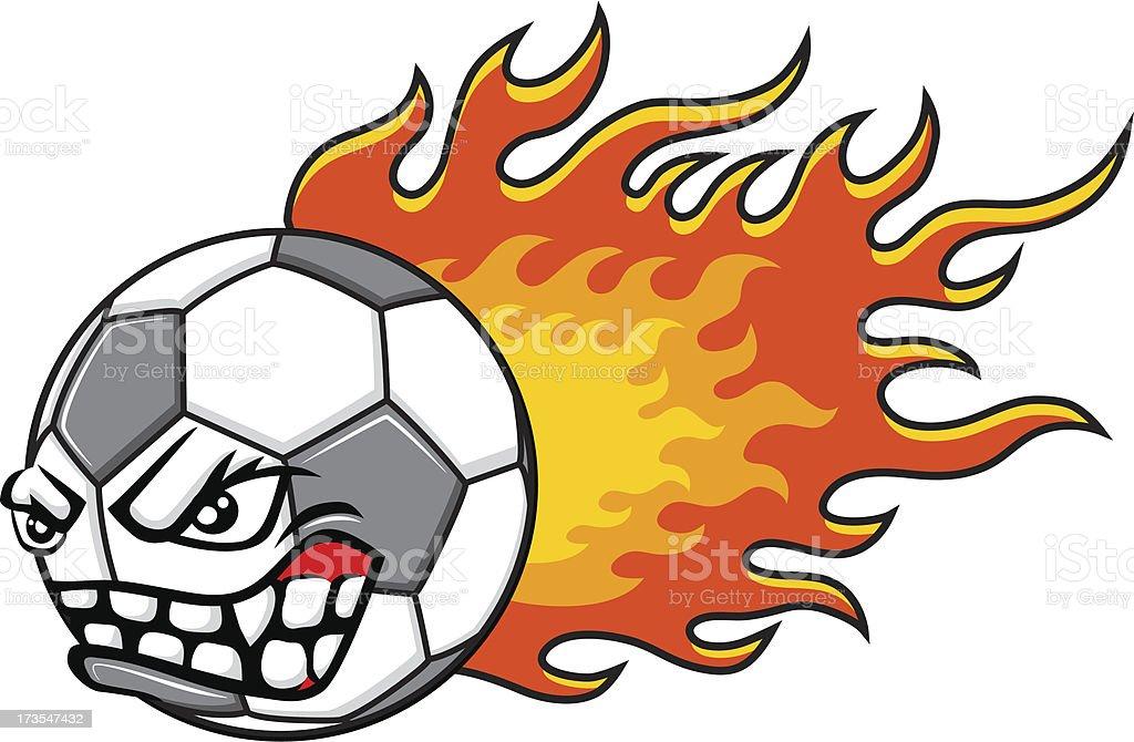 Flaming ball royalty-free stock vector art