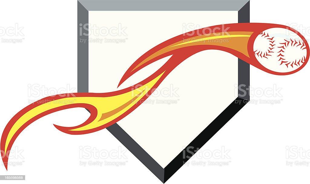 Flaming Baseball - Fast Ball royalty-free flaming baseball fast ball stock vector art & more images of ball