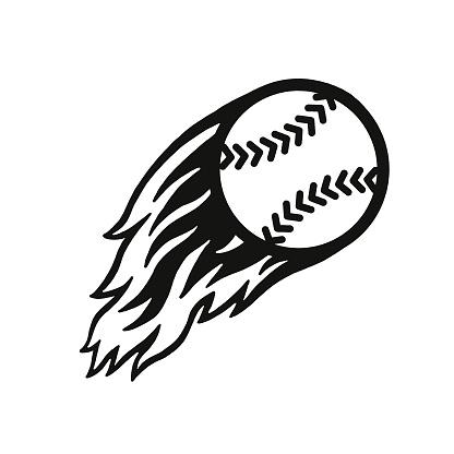Flaming Baseball