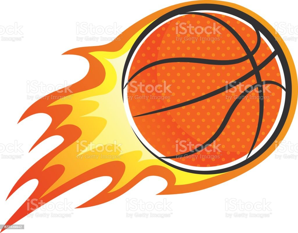 royalty free cartoon flaming basketball clip art vector images rh istockphoto com flaming basketball logo vector team with flaming basketball logo