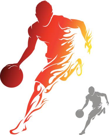 Flaming Basketball Player